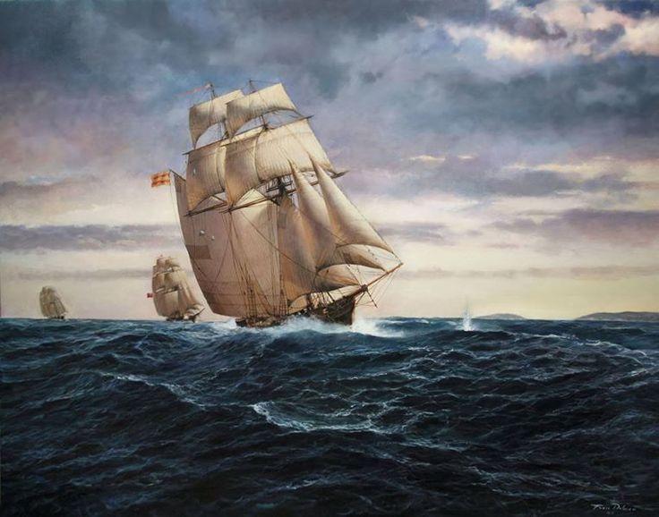 Caza al amanecer (Augusto Ferrer-Dalmau) | Корабль ...