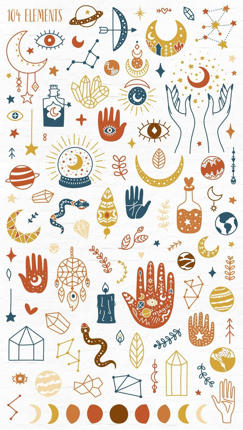 Moon clipart, Occult clipart, Mystery Digital Pape