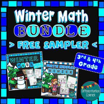 Winter Math Worksheets No Prep Printables- Sample of the BUNDLEThis ...