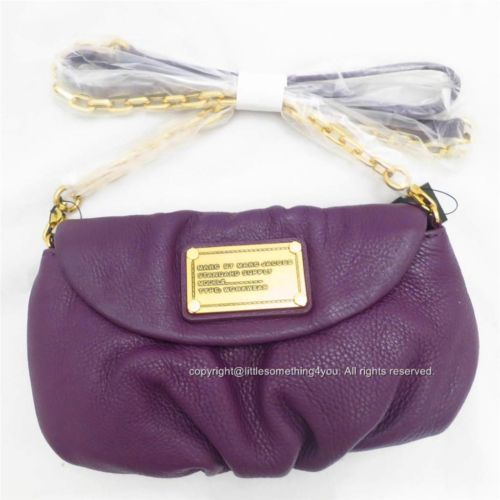 MARC BY MARC JACOBS CLASSIC Q KARLIE CROSSBODY PANSY PURPLE SHOULDER BAG NEW