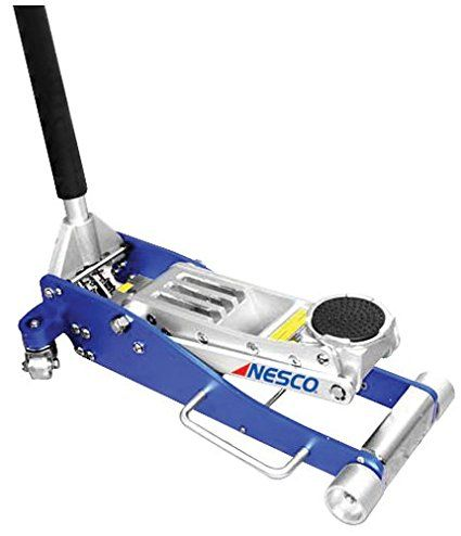 Nesco Tools 2203 Aluminum Low Profile Floor Jack 3 Ton Capacity