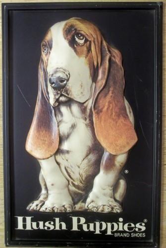 Hush Puppies Basset Hound Advertising Shoe Vintage Sign Basset Hound Basset Hound Dog Puppies