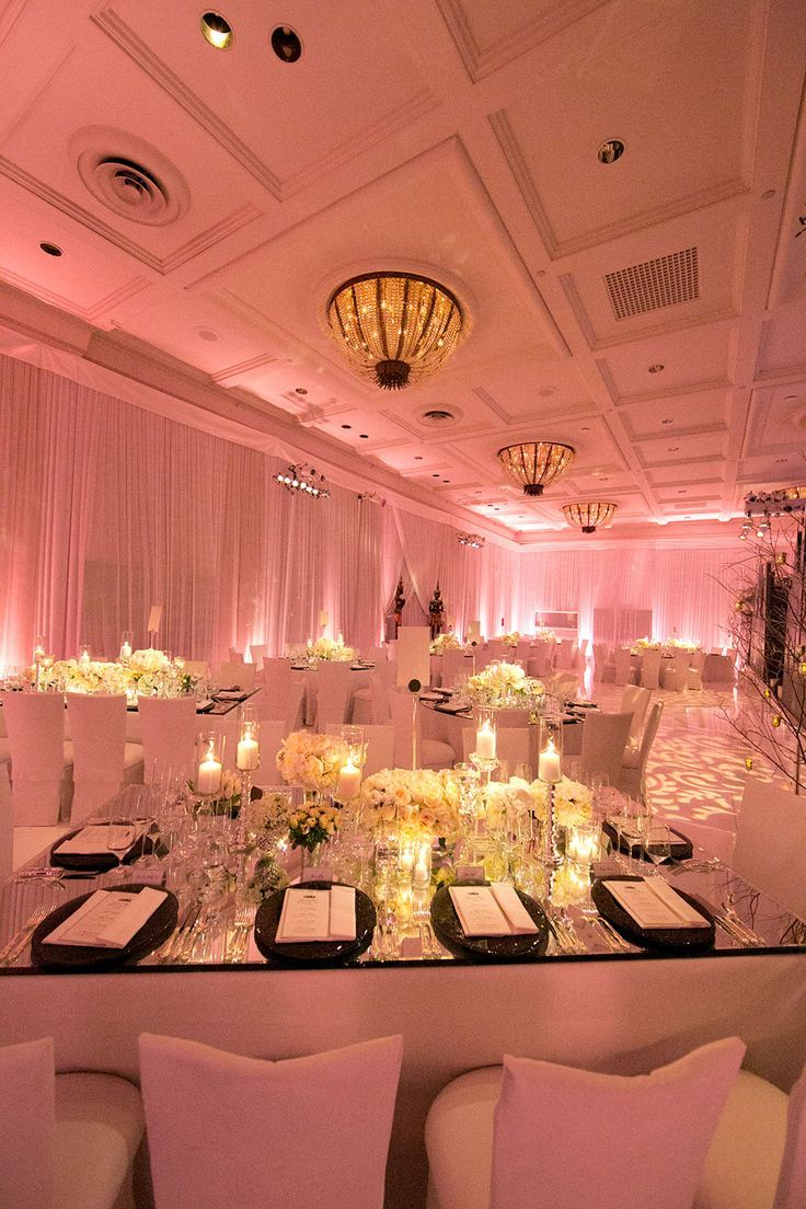 Columns ivory fabric uplighting wedding ceremony downtown double tree - Love The Fabric On The Walls And The Color Of The Up Lighting Pink Wedding Receptionswedding Eventsuplighting
