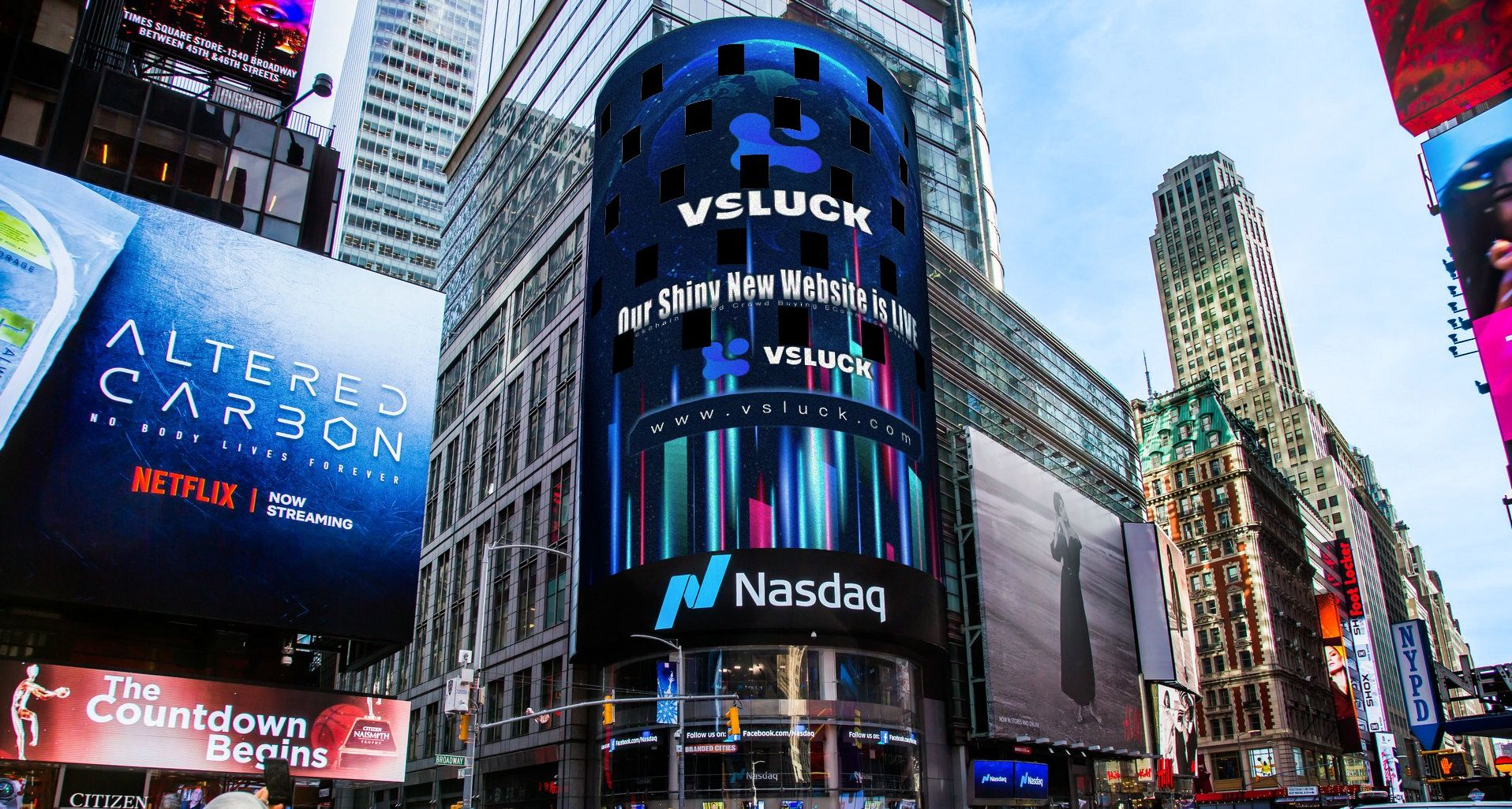 Vsluck Appear On Nasdaq Nasdaq Times Square Streaming