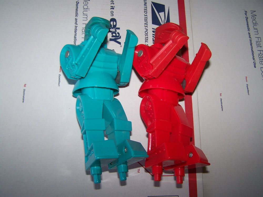 Mattel rock em sock em robots parts lot red rocket blue