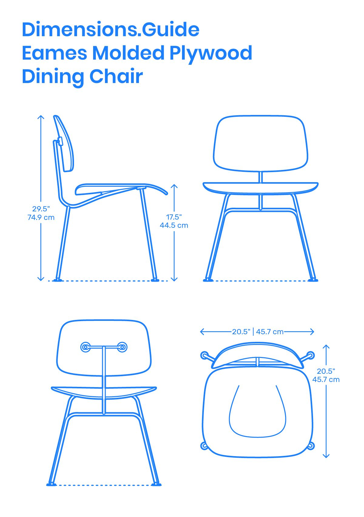 Eames Molded Plywood Dining Chair  Eames molded plywood dining