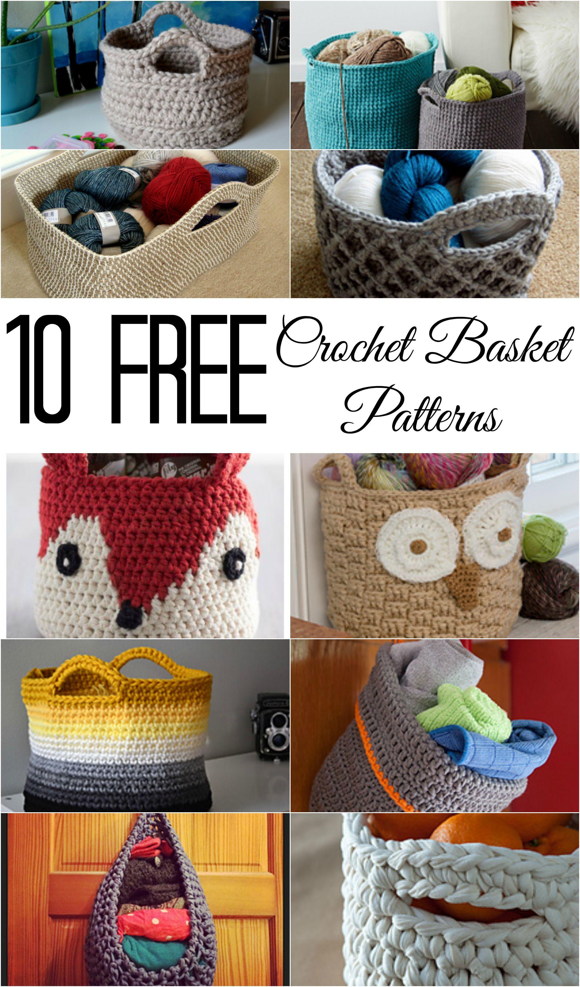 10 Free Crochet Basket Patterns | HÄKELWAHN | Pinterest | Häkeln ...