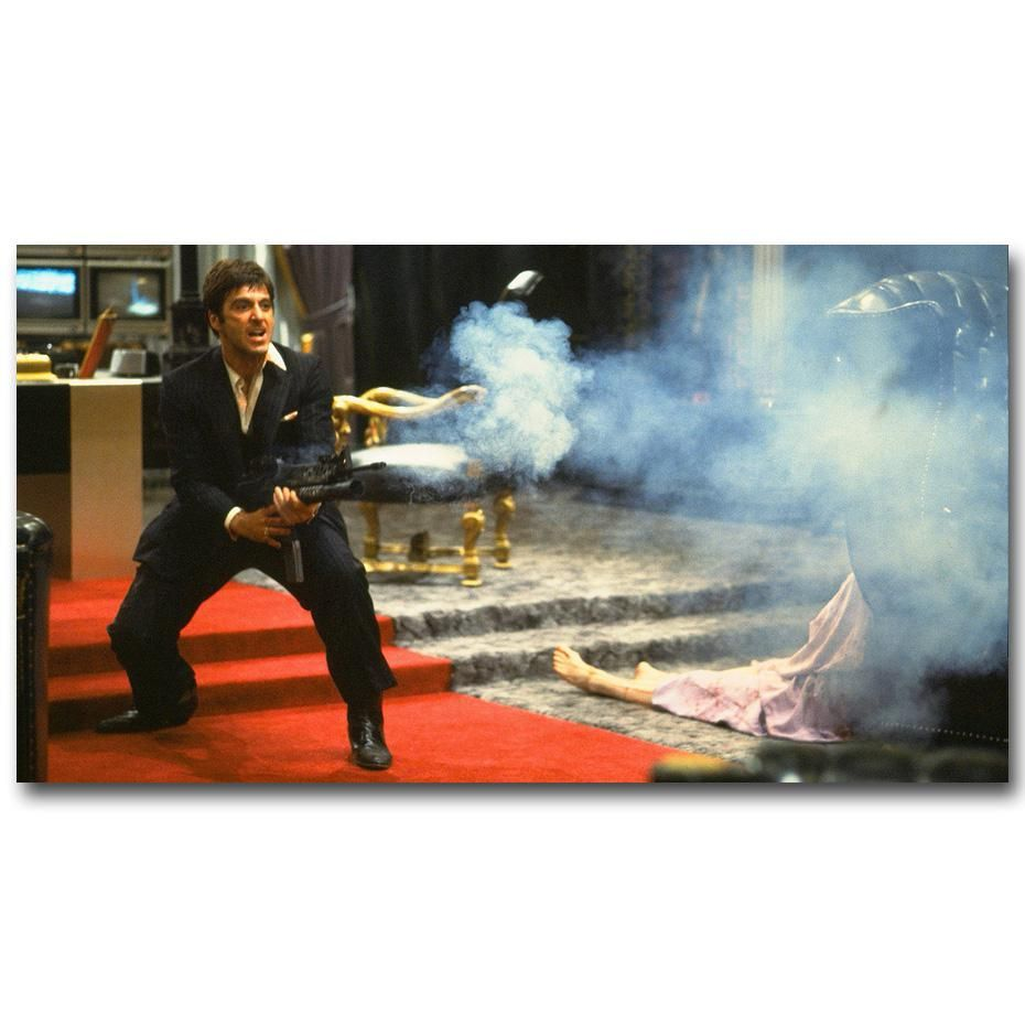 Scarface 1983 Classic Movie Silk Canvas Poster Wall Decorative Print 24x36 inch