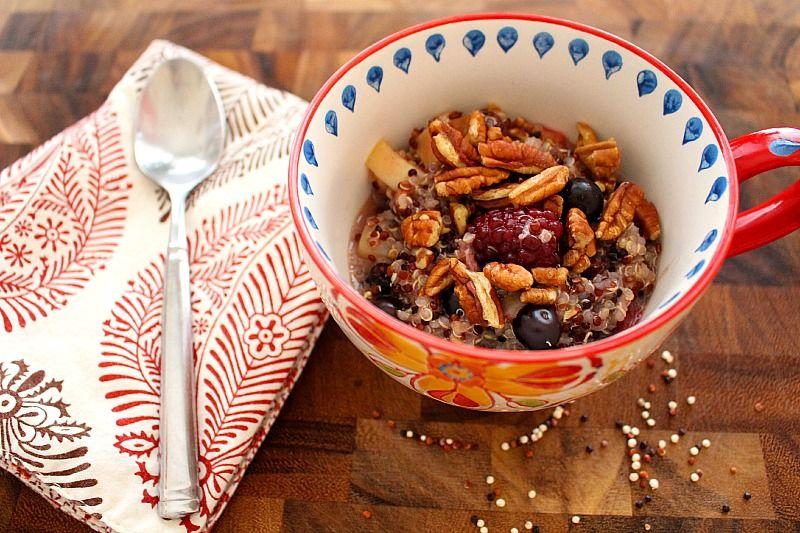 High protein high fiber high flavor quinoa berry hot cereal for recipes high protein high fiber high flavor quinoa berry hot cereal for ccuart Image collections