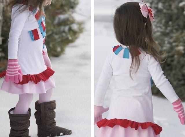 DIY Clothes Refashion: DIY Winter Wonderland Dress ...