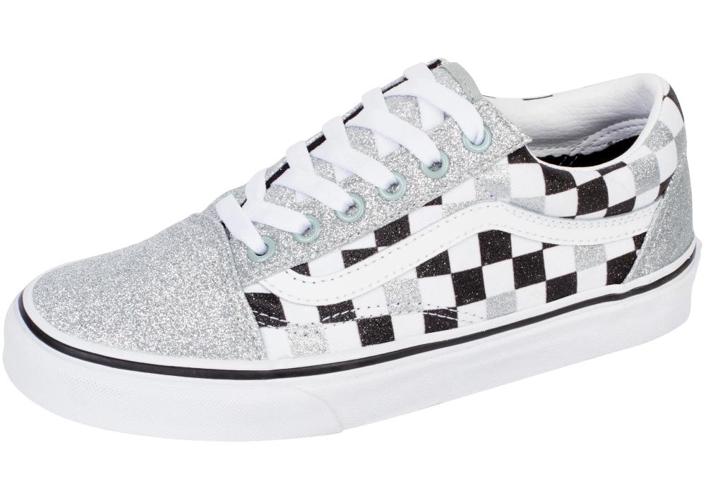 Vans Old Skool Glitter Checkerboard