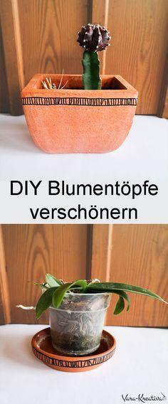 Diy Blumentopfe Verschonern Diy Deko Diy Wohnen Blumentopf Pimpen