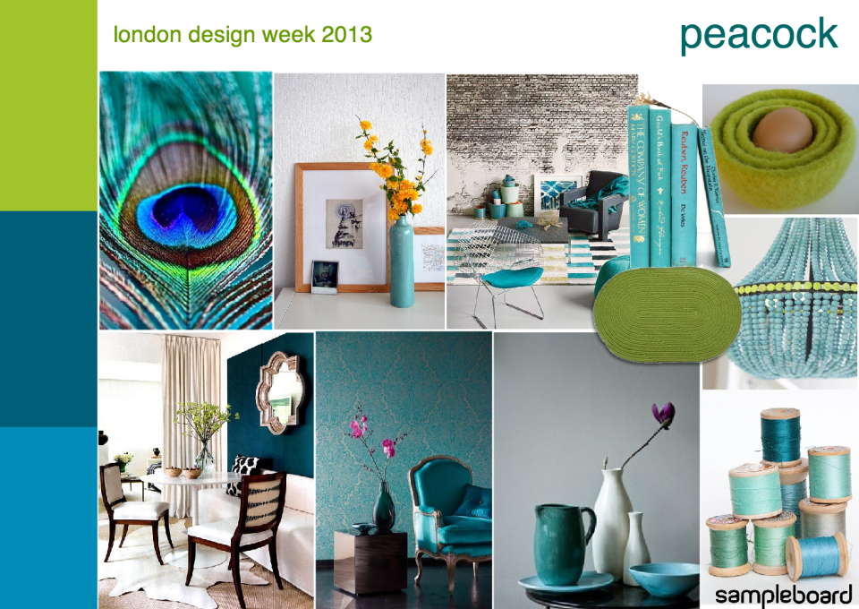 Turquoise And Lime Green Dining Room Design Boards