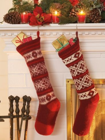 Fair Isle Stockings | Yarn | Free Knitting Patterns | Crochet ...