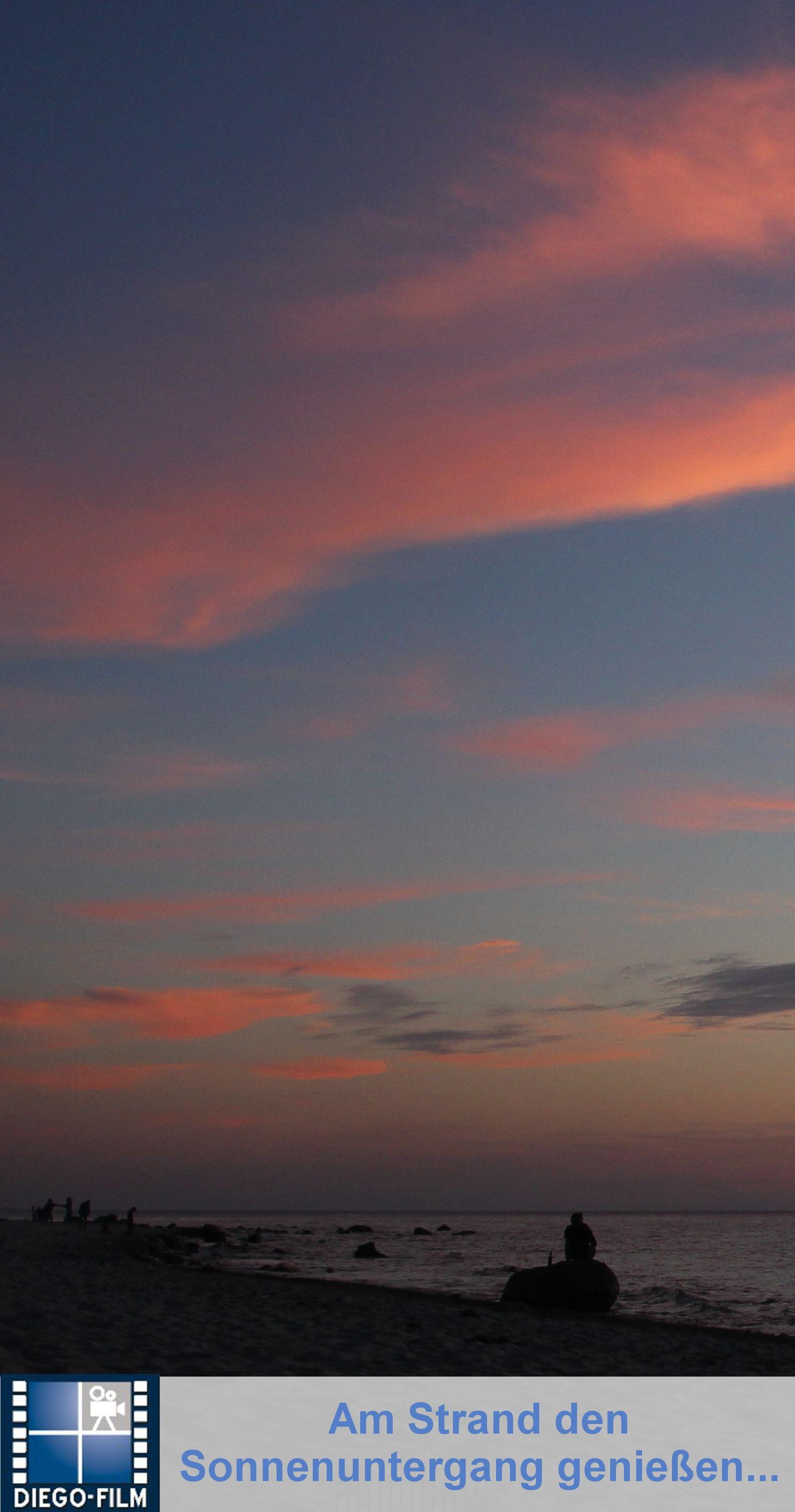 Und ab in den Sonnenuntergang ... http://diego-film.de/ ... #ostsee #sonnenuntergang #strand #urlaub #ferien #reisen #sonne