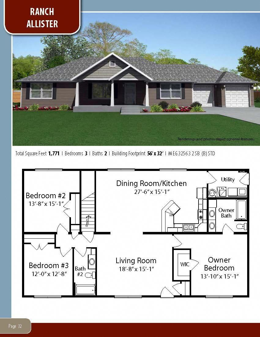 To Learn About Building Your New Home With All American Homes Visit Our Website At Www Allamericanhomes Com In 2020 Simple House Plans House Floor Plans Floor Plans