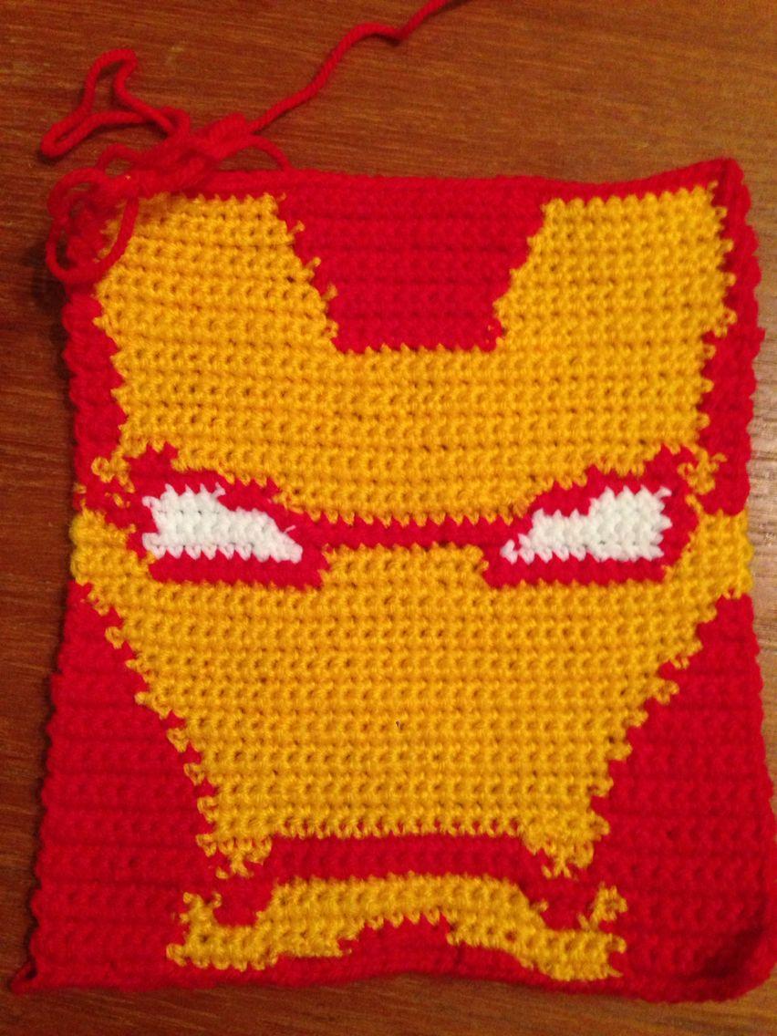 Crochet iron man   Crochet projects, Craft patterns ...