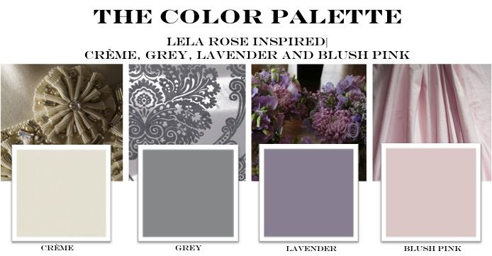 Cream Grey Lavender And Blush Pink This Is Our Color Palette