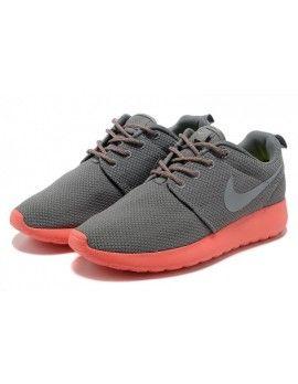 Big Discount Nike Roshe Run Women Grey Pink Mesh Junior   Nike