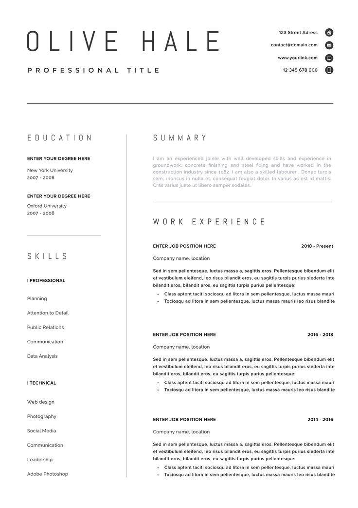 Professionelle Lebenslauf Vorlage Saubere Und Moderne Lebenslauf Vorlage Lebenslauf Resume Template Professional Modern Resume Template Resume Template Etsy
