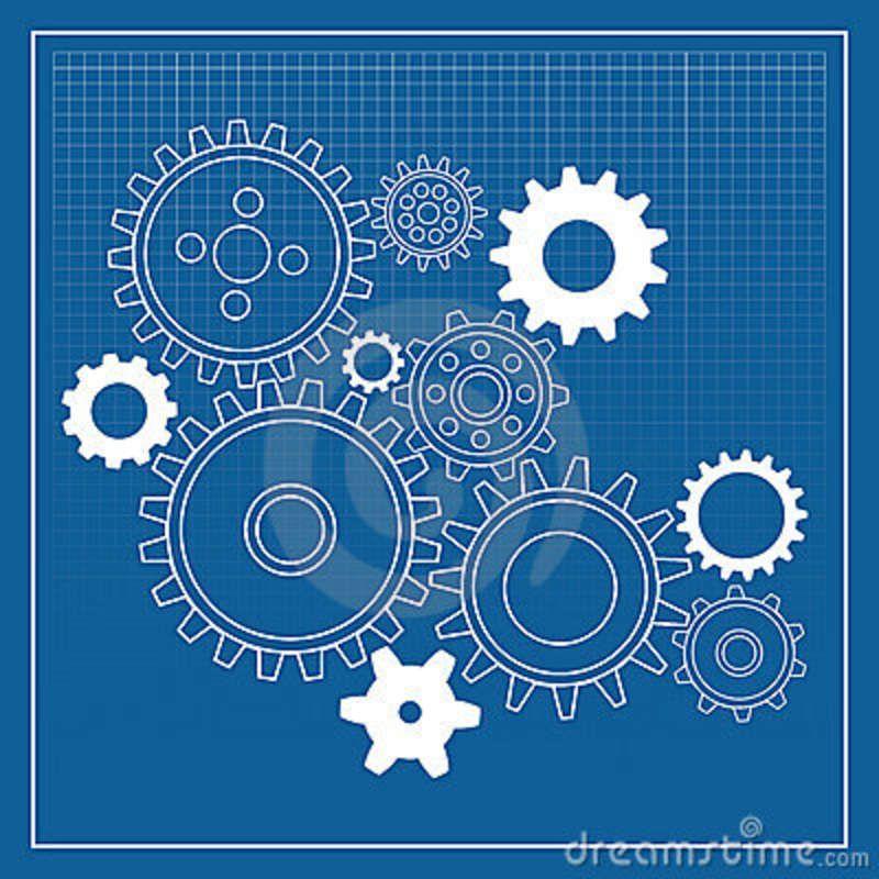 Cogs blueprint blueprint pinterest gear wheels symbols and crafty blueprint gear wheels stock vector illustration of symbol 15075761 malvernweather Images