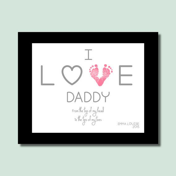 Gift For Daddy From Daughter Newborn Baby By PerfectLittlePrints