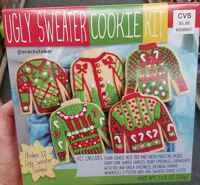 Ugly Sweater Cookie Kit At Cvs Holiday Goodies Xmas 2017