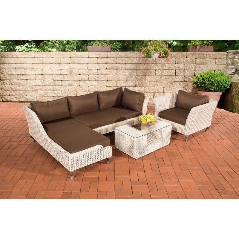 Salon De Jardin Moss Rond Blanc Perle Marron Terre Clp11724897 Outdoor Furniture Outdoor Sectional Outdoor Furniture Sets