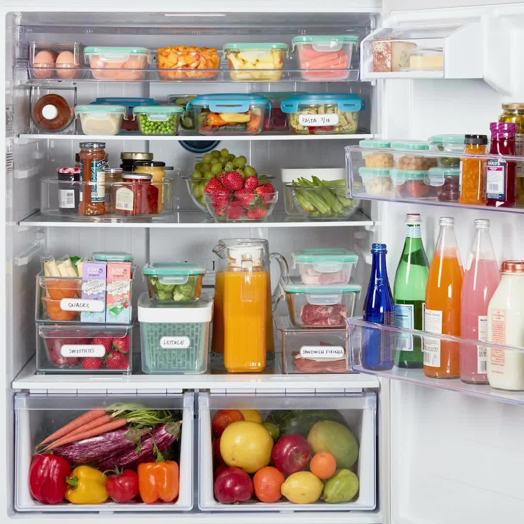 We Ve Got All You Need To Get The Fridge Oh So Organized Tidy Up The Fridge And Keep Groceri In 2020 Kitchen Decor Hacks Kitchen Organization Pantry Kitchen Hacks Diy