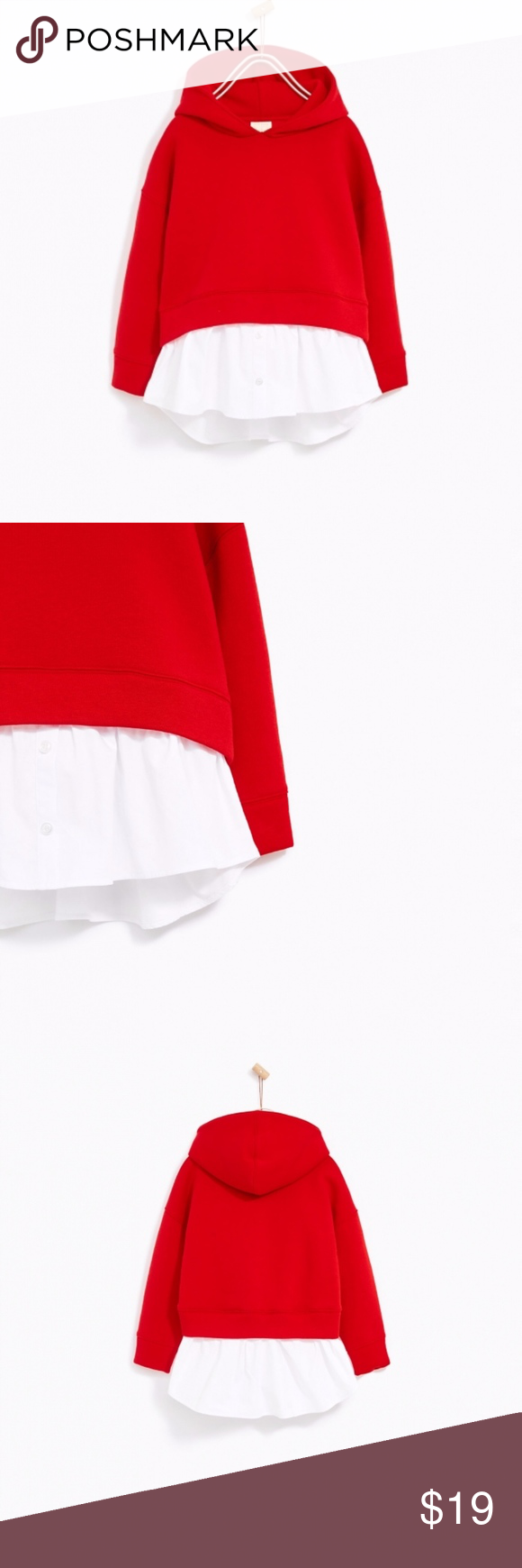 Zara girls red sweatshirt with white undershirt In great condition, with no stai... ,  #condition #Girls #Great #RED #stai #sweatshirt #undershirt #White #ZARA #zarakidsred