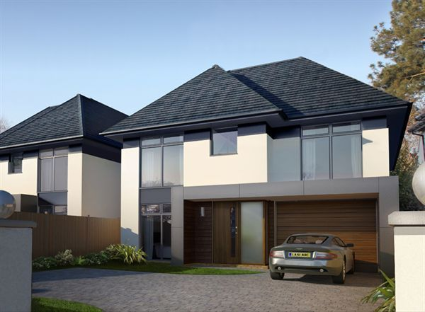 Best Modern Whitewash Grey Slate Roof With Images Facade 400 x 300