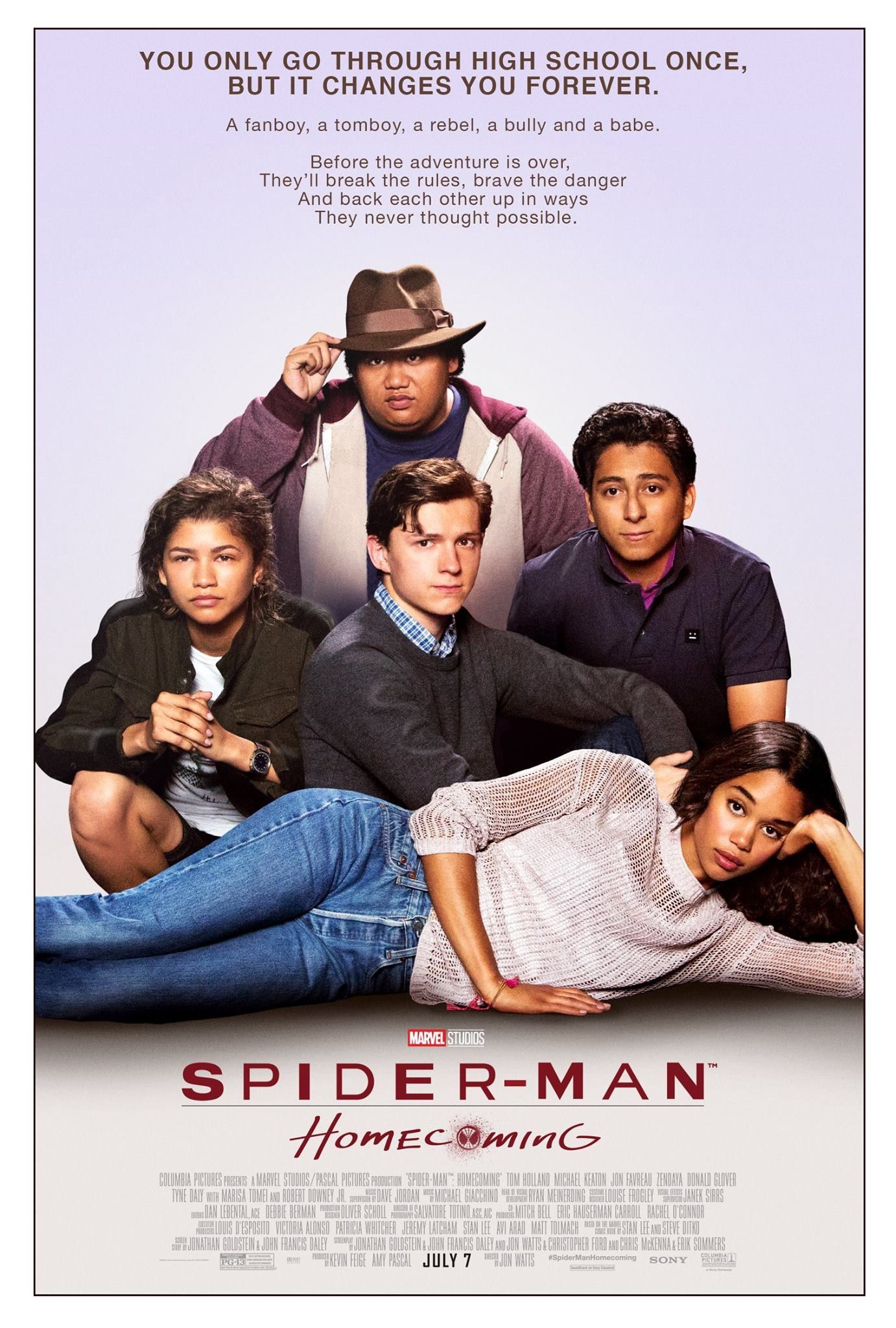Spider-Man: Homecoming parody poster of The Breakfast Club | Movies