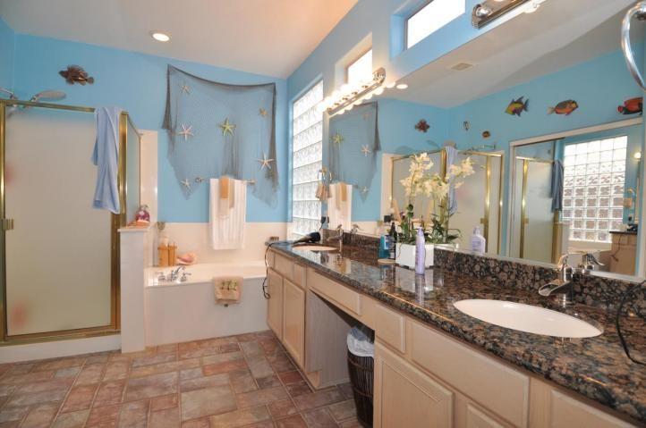 Ocean Themed Bathroom | Sea Shell Fish Net Theme Bathroom Bad MLS Photos  Ugly House Home