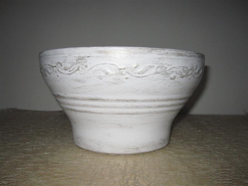 Ciotola bianco/oro antico