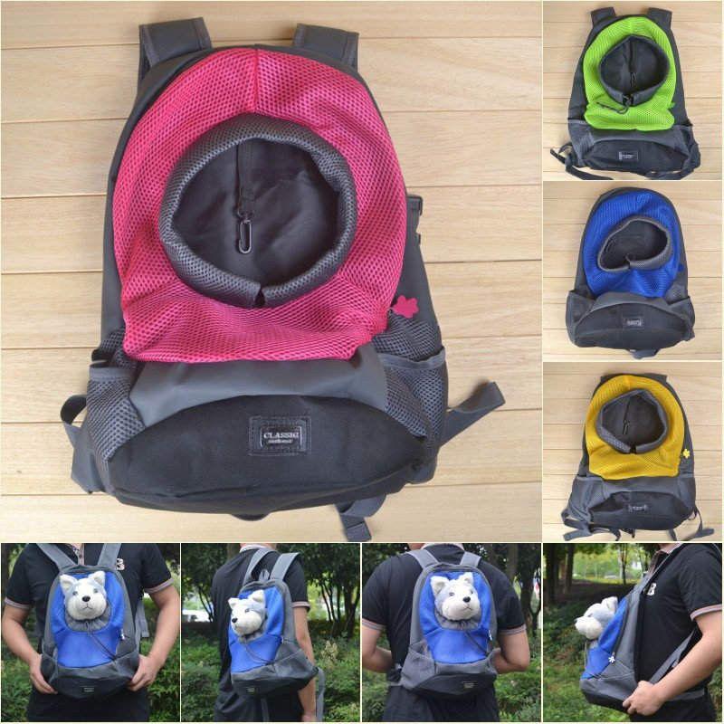 Pet Dog Carrier Travel Bag Pet front Carrier Bag Mesh Backpack Head ...