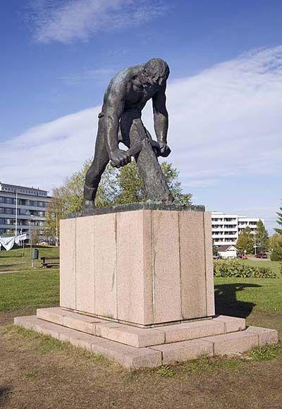 Jätkä-patsas Rovaniemi