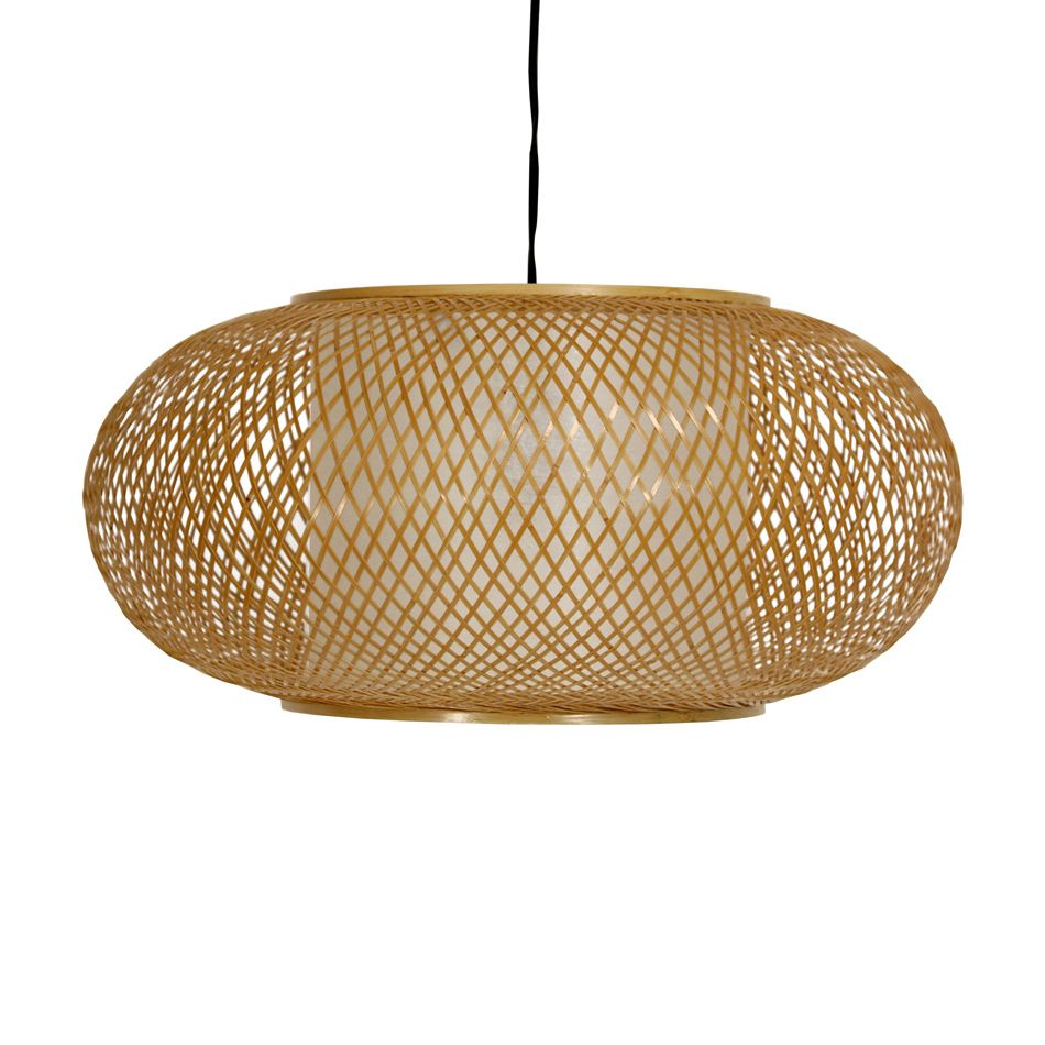 "Oriental Furniture WDLD084W 8"" Honey Kata Japanese Ceiling Lantern - Lighting Universe"
