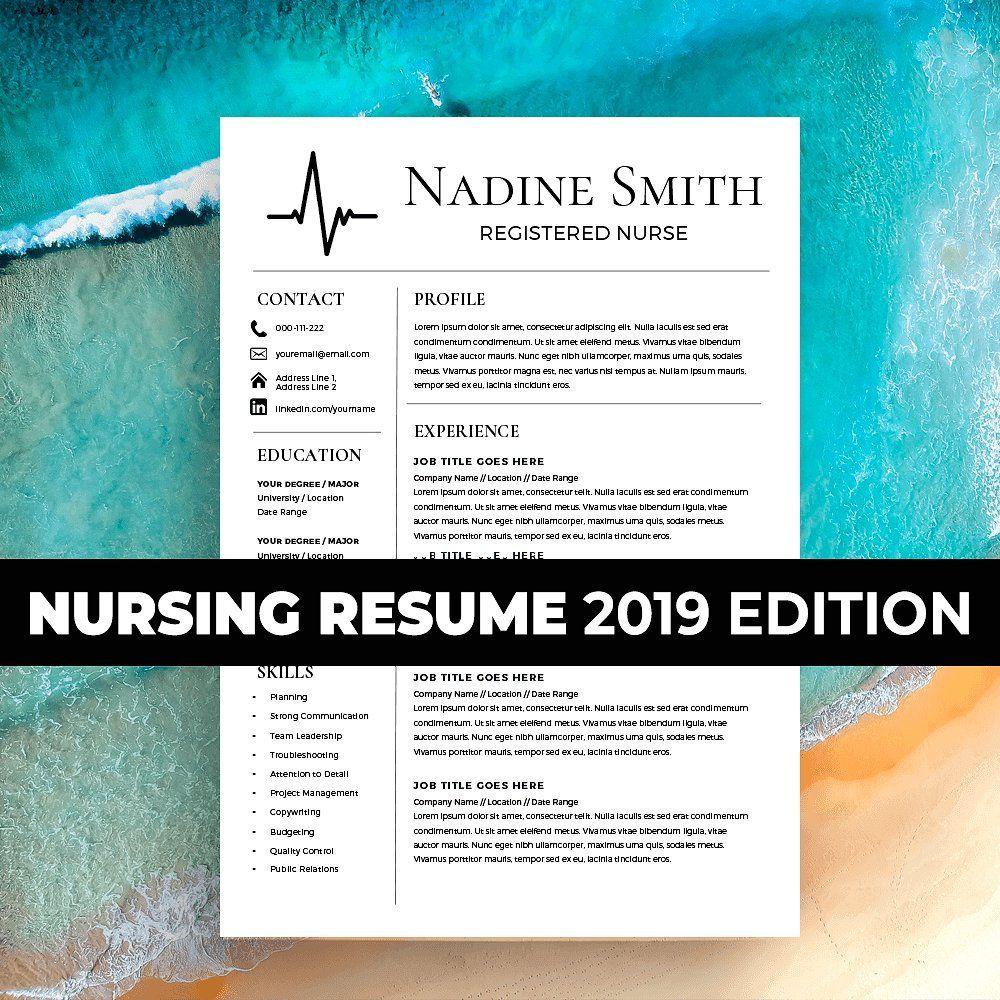 Nurse Resume Template 2019 Nursing by Kingdom Of Design