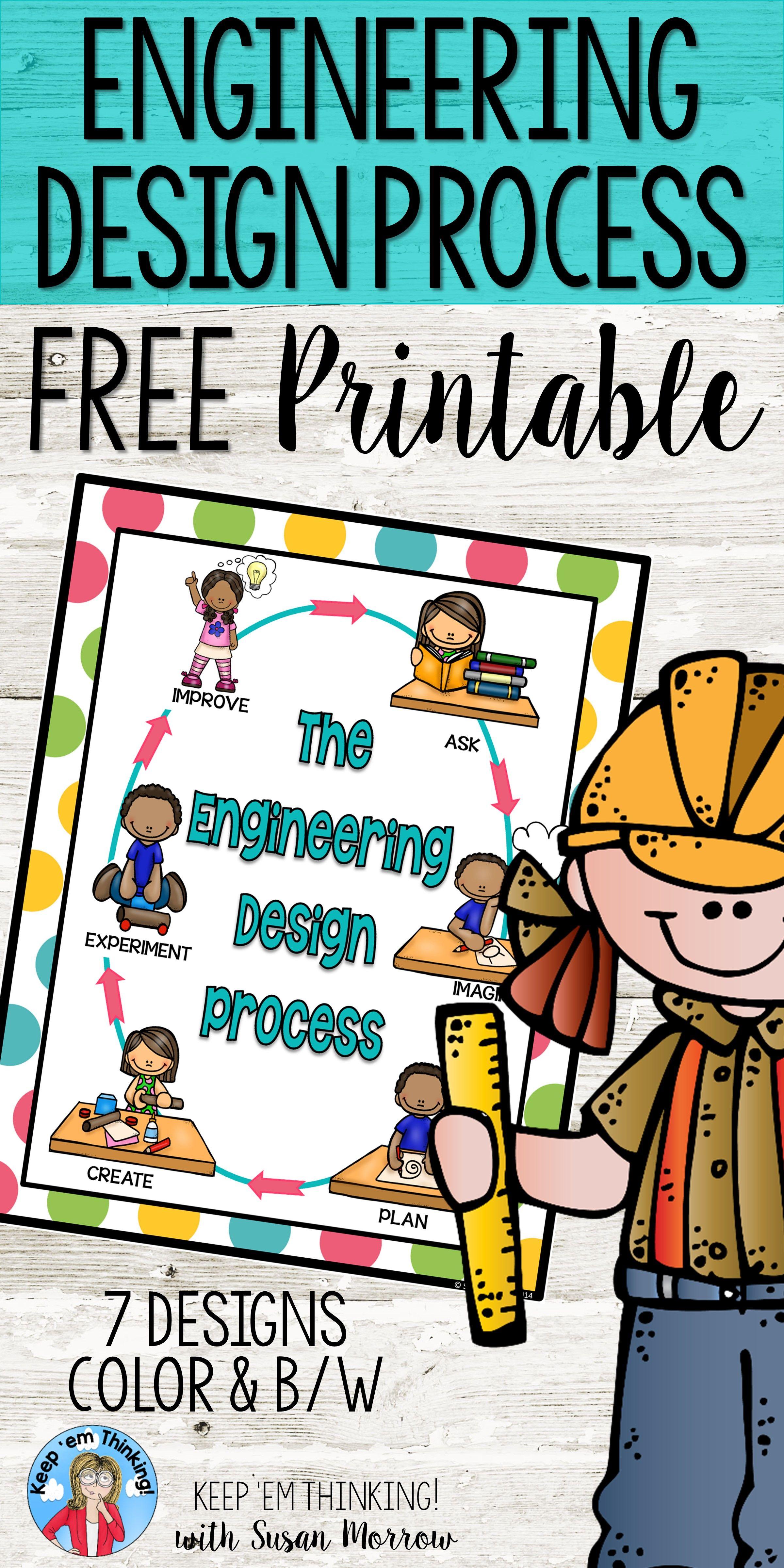 Freebie Engineering Design Process Poster 7 Designs