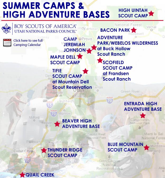 Utah National Parks Council Camps  Scouts