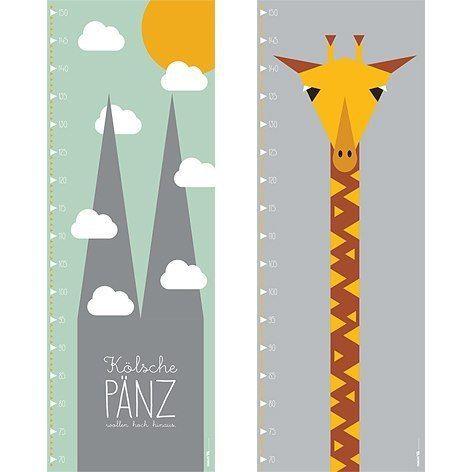 Messlatte Für Kinderzimmer   Messlatten Poster Giraffe Und Kolle Von Fraeulein Ea