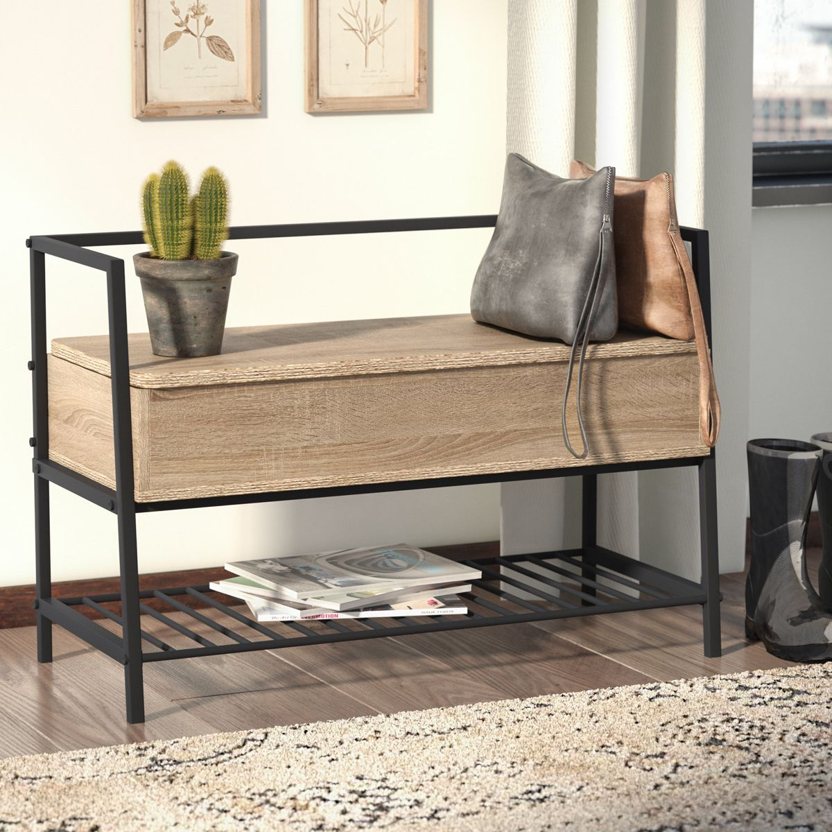 Ermont Cubby Storage Bench | Cubby storage bench, Bench ...