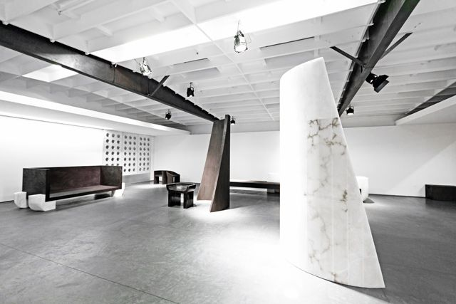 Rick Owens Turbo L A Monumental Furniture Exhibition At Maxfield Gallery Los Angeles Rick Owens Furniture Art Galleries Architecture