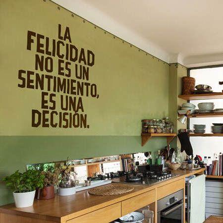 C mo decorar la pared de la cocina blog - Vinilos para la cocina ...