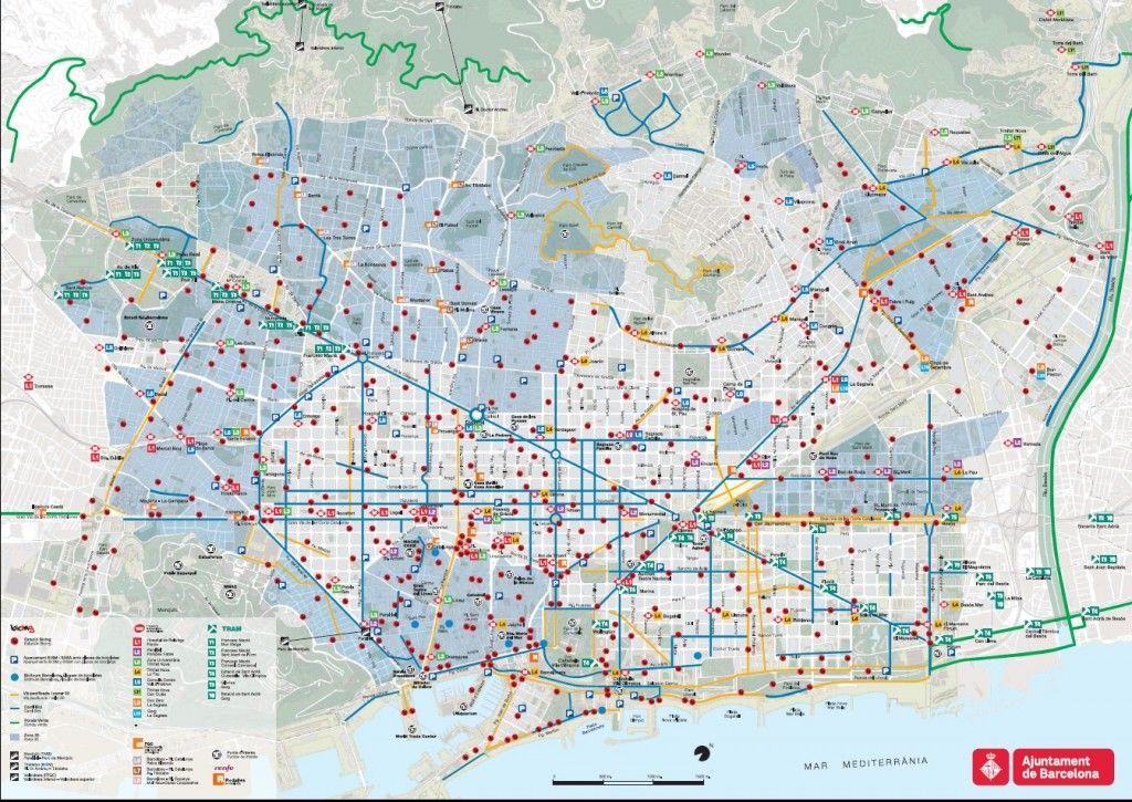 Mapa Carrils Bici Barcelona.Mapa Carril Bici Barcelona Bici Ciudad Bici Ciudad Bici