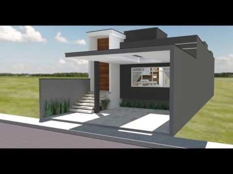 Casa pequena moderna 7x20 youtube videos casa casas casas modernas y casas americanas - Casas americanas modernas ...
