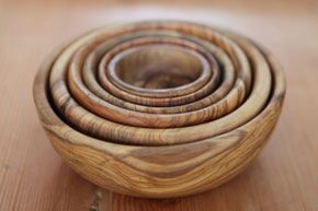 Le Souk Olive Wood Nesting Bowls  • $85  • Lost and Found  These gorgeous, space-saving nesting bowls from Tunisia are made from sustainably-harvested olive wood.