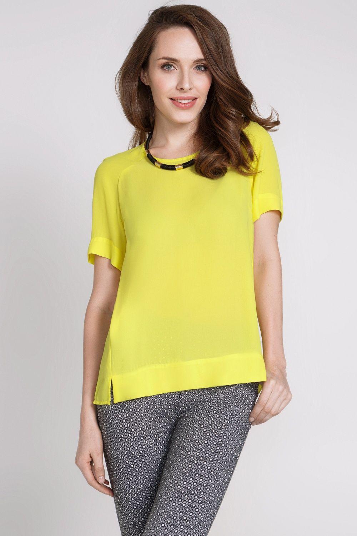6017be5ce Вы можете купить Блузка желтая в интернет магазине Concept Club. Заказать  модную женскую брендовую одежду