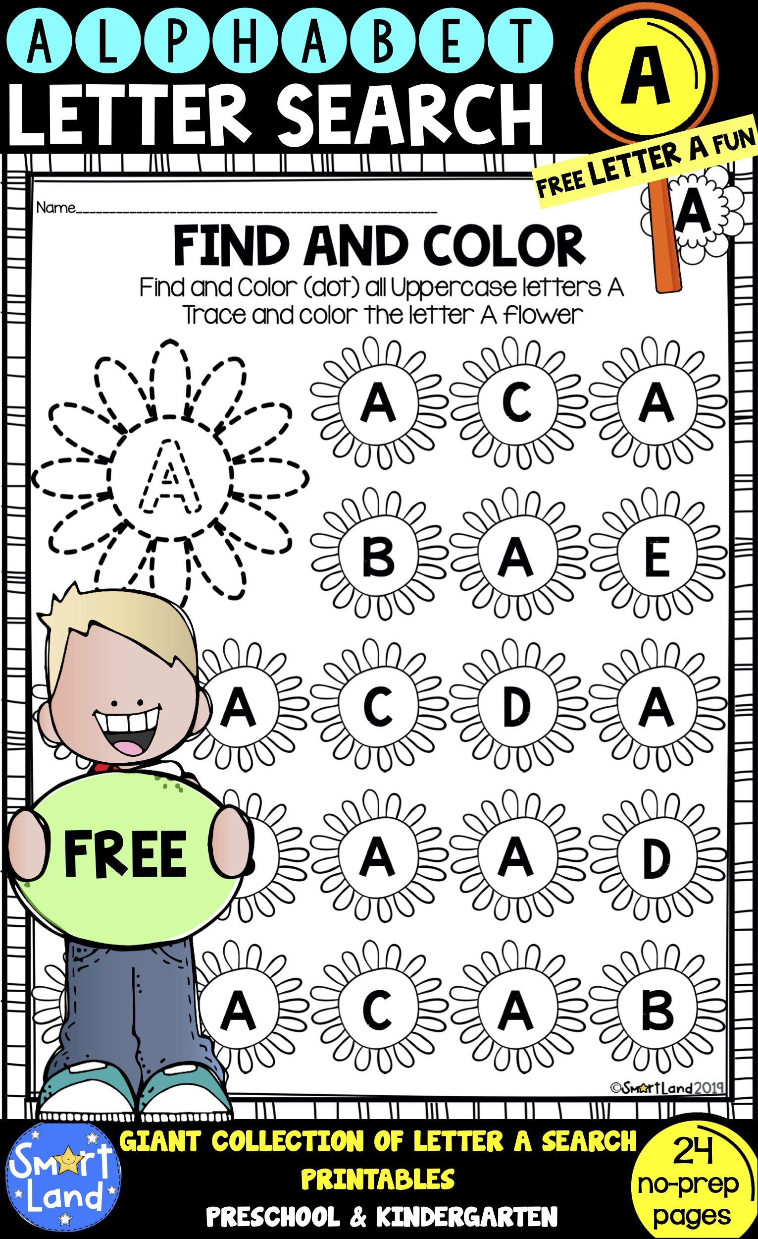 Alphabet Practice Free Letter A Search Worksheets Letter Practice Preschool Alphabet Practice Kindergarten Worksheets [ 2500 x 1531 Pixel ]