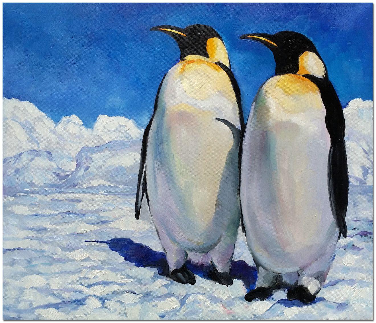наши пингвины на картинах художников новом отличаются продуманной